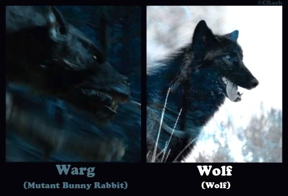 Warg Versus Wolf (The Hobbit) by CRash